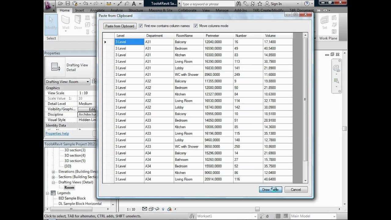 How to Quickly Create Revit Tables with Tools4Revit Quick ...