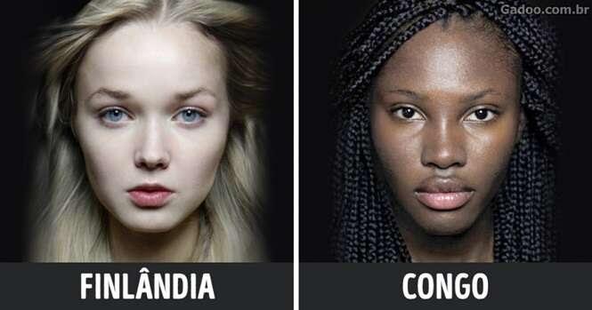 Projeto revela a beleza das mulheres asiáticas, africanas e europeias