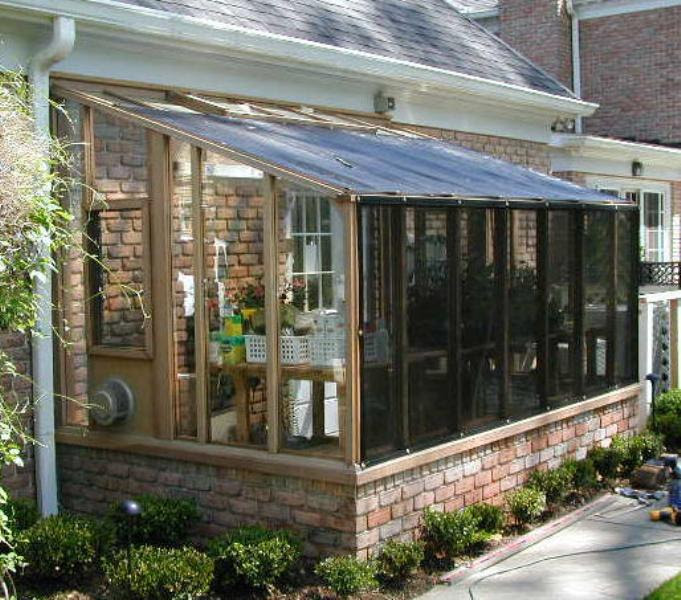 garden sun room greenhouse shade cloth