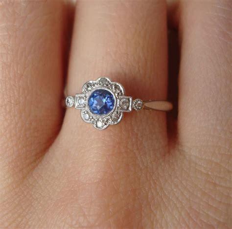 Art Deco Engagement Rings Etsy   Wedding and Bridal