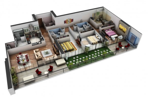 House Plans With 2 Bedroom Apartment