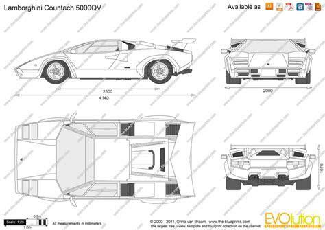The Blueprints.com   Vector Drawing   Lamborghini Countach 5000QV