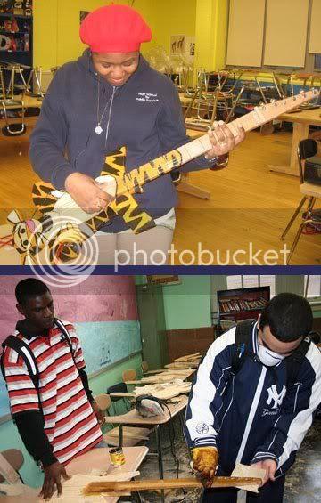 Brooklyn kids make electric guitars