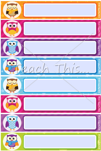 1000+ ideas about Owl Name Tags on Pinterest   Owl labels, Owl ...