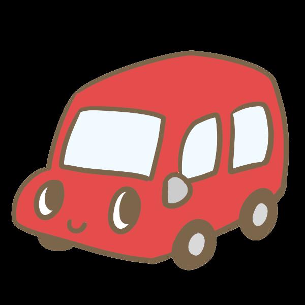 カワイイ車赤のイラスト かわいいフリー素材が無料のイラストレイン