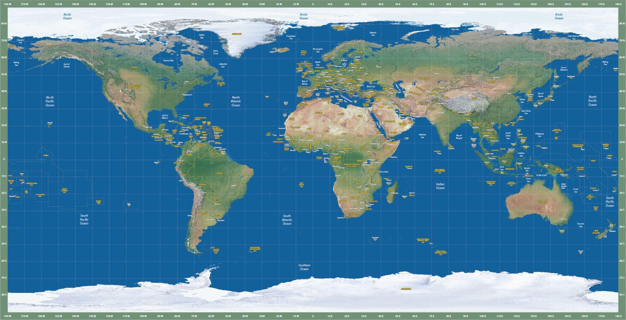 World Map Eur Satellite Map   Digital  Creative Force