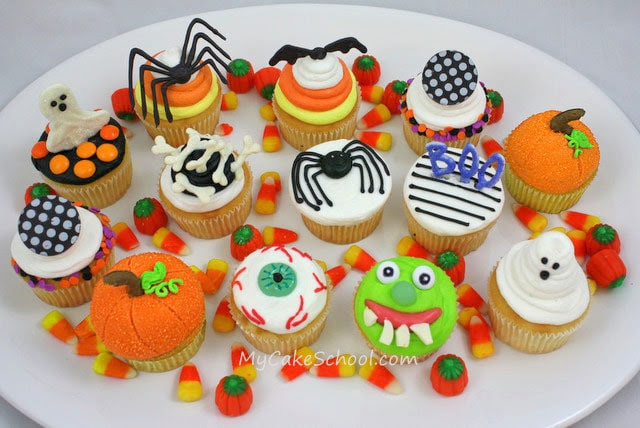 Halloween Cupcakes by My Cake School