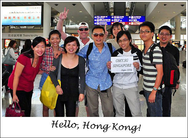 The bloggers reach HKIA!