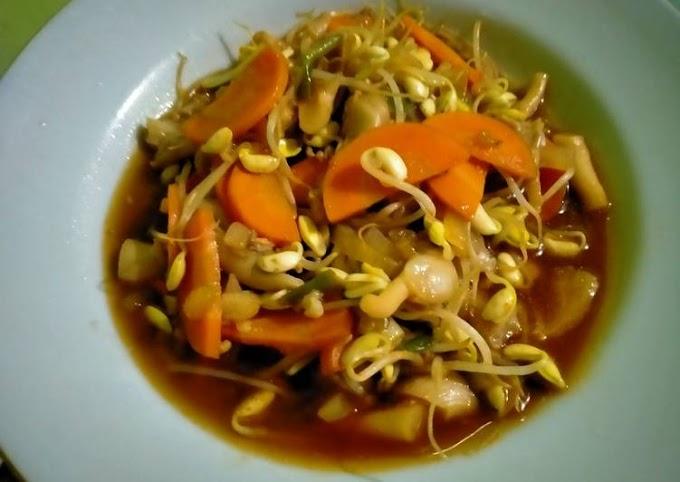 Resep Mudah Tumis jamur tiram wortel toge Cita Rasa Tinggi