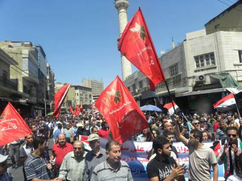 Amman, Jordan: People's Unity Party march against U.S. military intervention in Syria, August 30, 2013.