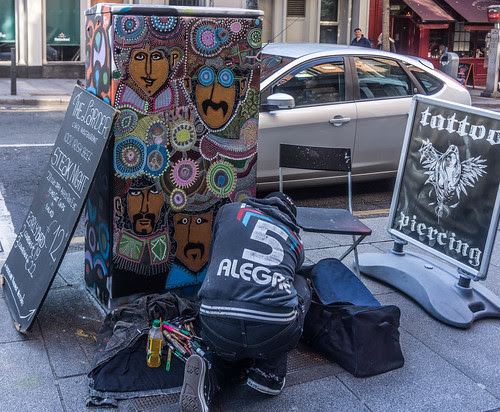 Dublin Street Art - Artist at Work by infomatique