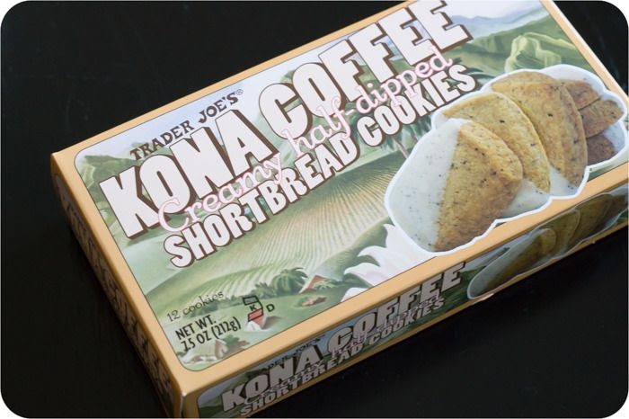 trader joe's kona coffee shortbread cookies review : part of a weekly review series of tj's desserts and treats