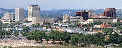 The downtown of Colorado Springs, Colorado. (ThinkStock)