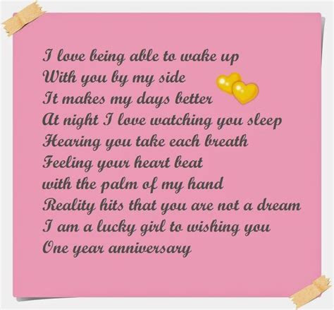 One Year Anniversary Poems for Boyfriend   Cute Instagram