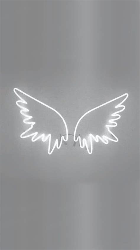 wings white  light image white wallpaper  iphone grey wallpaper iphone grey wallpaper