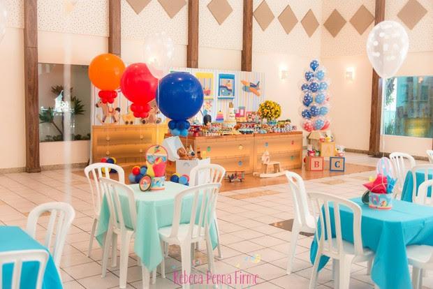 Detalhe da decoração da festa de 1 ano do Gabriel (Foto: Rebeca Penna Firme / Divulgação)