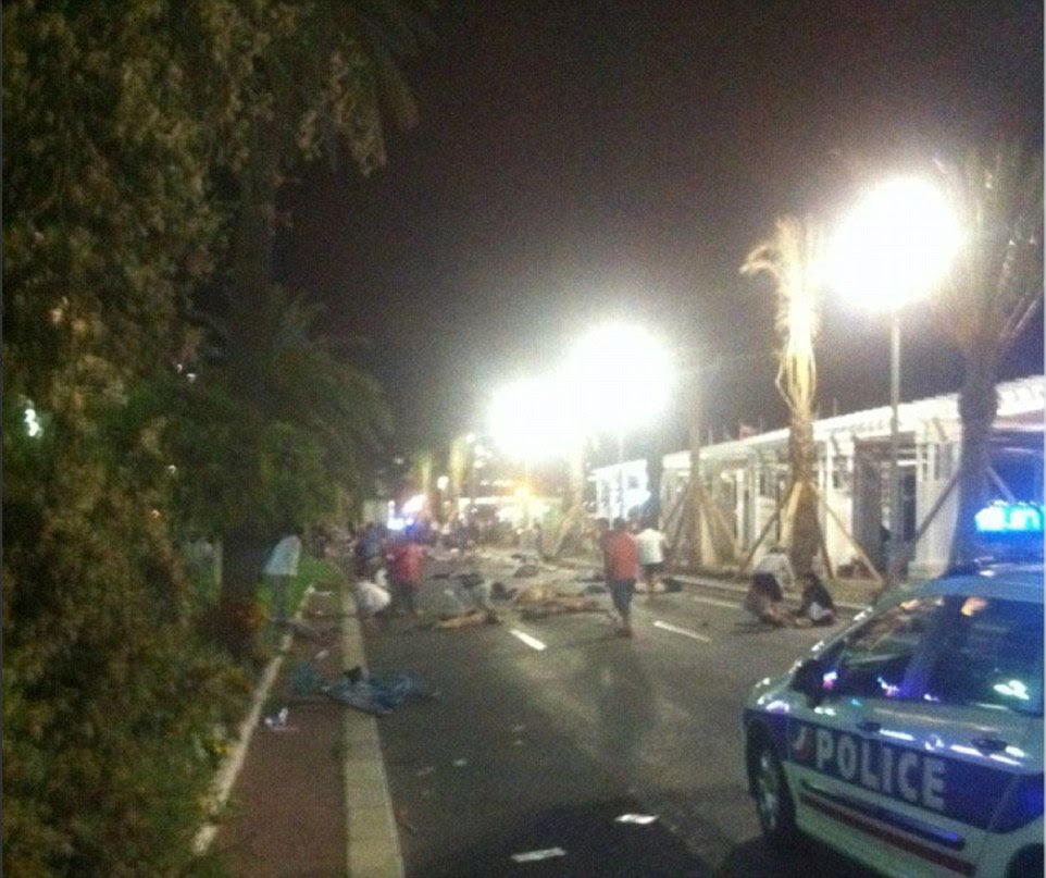 Eyewitnesses reported there were exchanges of gunfire between police and suspected terrorists in Nice, southern France