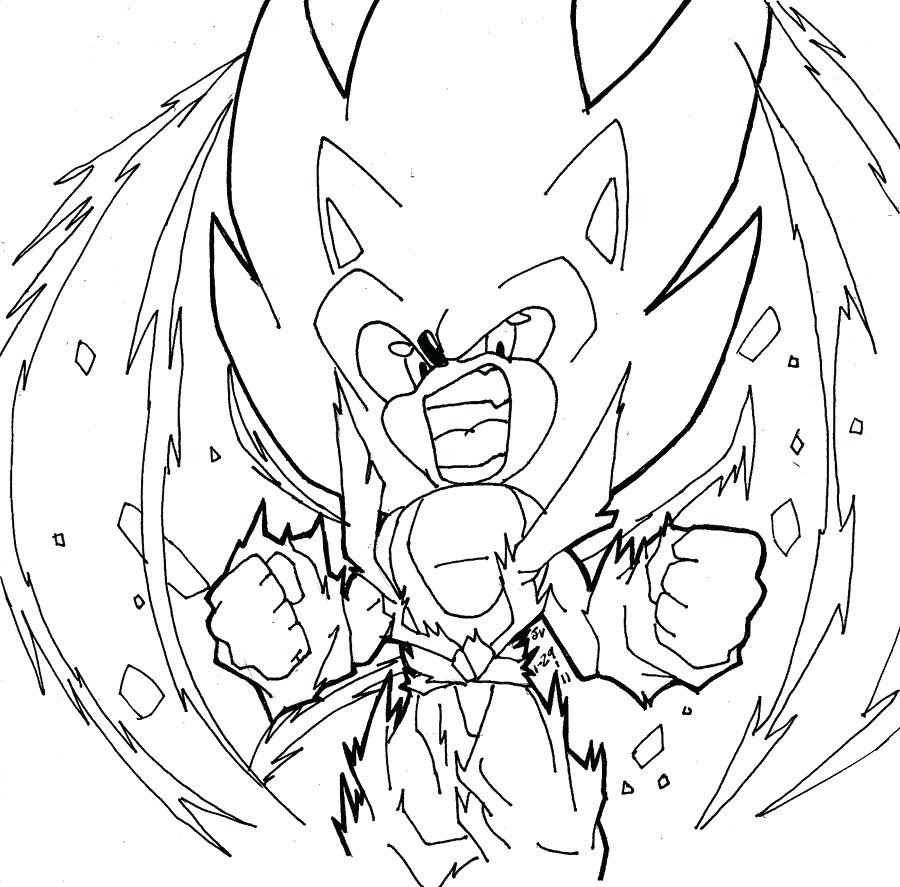 Super Sonic The Hedgehog Coloring Pages at GetColorings ...