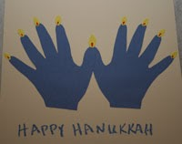 Halloween craft ideas for kids handprint rudolph for Menorah arts and crafts
