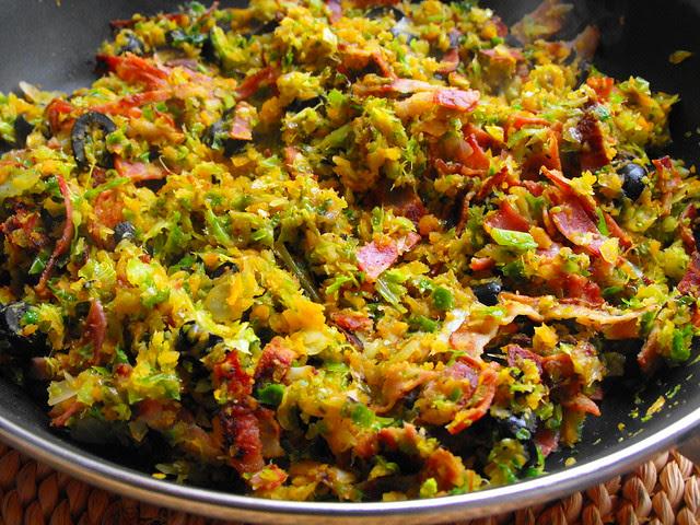 Almofadinhas de legumes com bacon