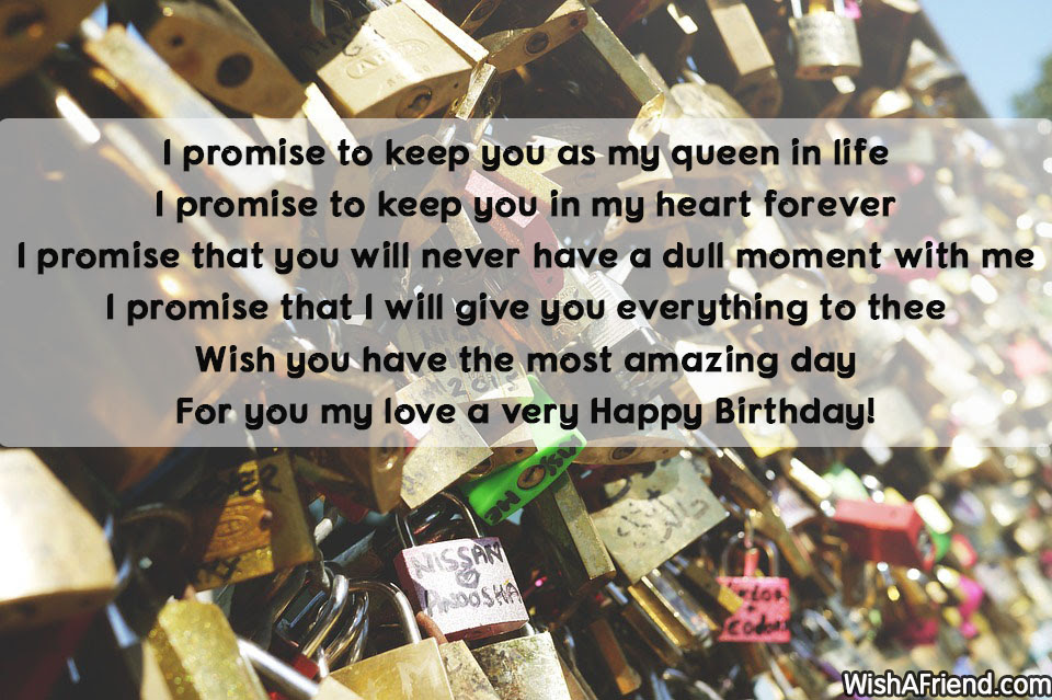 I Promise To Keep You As Birthday Quote For Wife