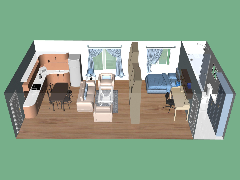 Brilliant Studio Apartment 2880 x 2160 · 1001 kB · jpeg
