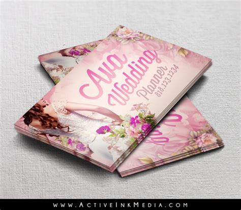Wedding Planner / Event Coordinator Business Card Template