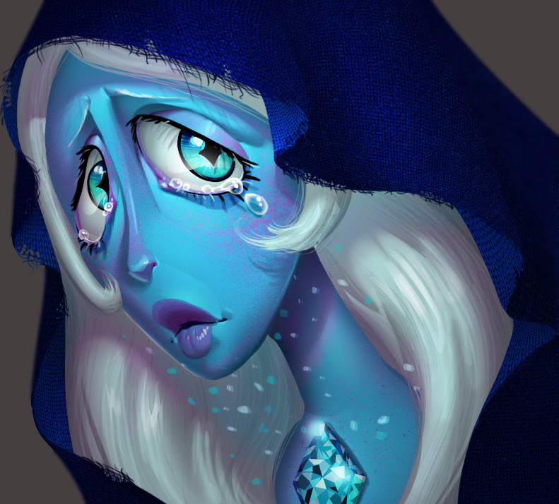 One face a day 182/365. Blue Diamond (steven universe). What's the use of feeling blue?