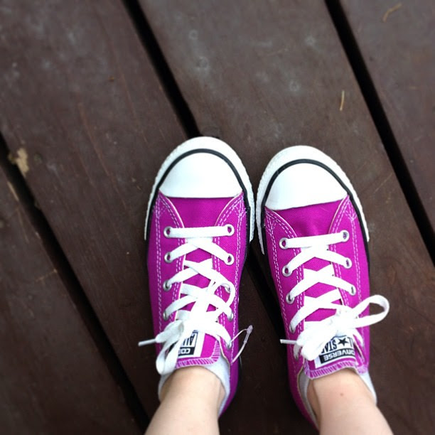 """Day192 New Converse.  They are called """"cactus purple"""".  7.11.13 #jessie365"""