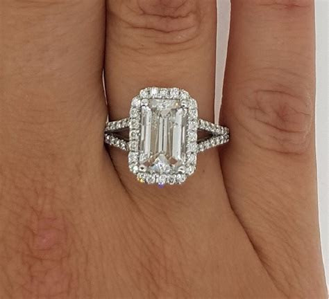 4 Carat Emerald Cut Diamond Engagement Ring   Ara Diamonds