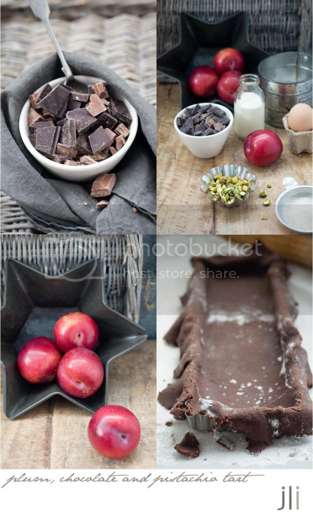 m chocolate and pistachio tart