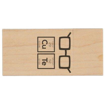 Cute chemical Element Nerd Glasses Zwp34 Wood USB Flash Drive