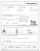 Morning Work for First Graders - Freebie