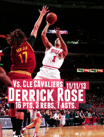 Derrick Rose - 11/11/13 - Win vs. Cleveland Cavaliers