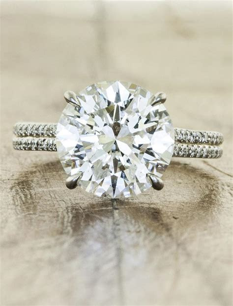 Hana: 3.0 Ct Round Diamond   Micropave Double Band   Ken