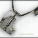 NECKLACE - silver, golden pyrite, citrine, patina