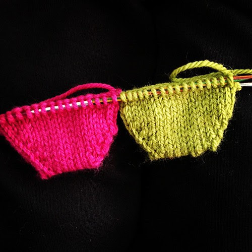 Toe cups! Not perfect but I'm getting the hang of it. Thanks @kristinep_photo for encouraging me to go for it! #knitting #sock