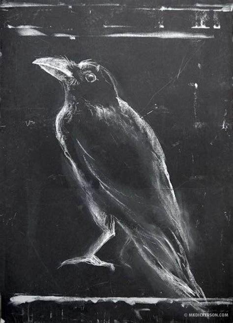 ibird  day art blog chalk drawing crows chalk art