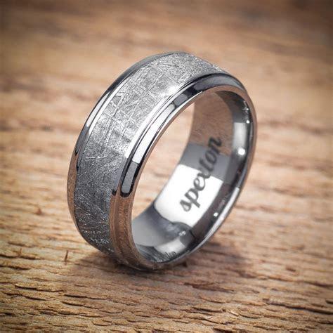 "Titanium Meteorite ""Koenig"" Wedding Band from Spexton"