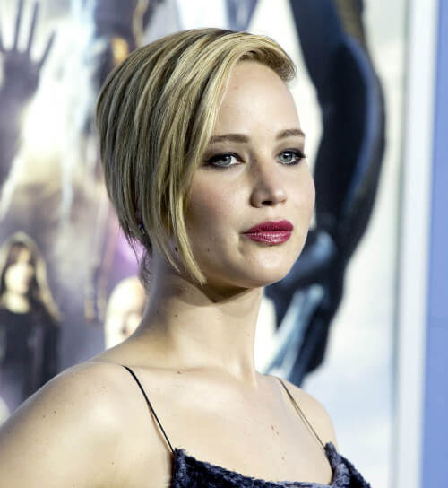 Jennifer Lawrence Short Hairstyle with Layers