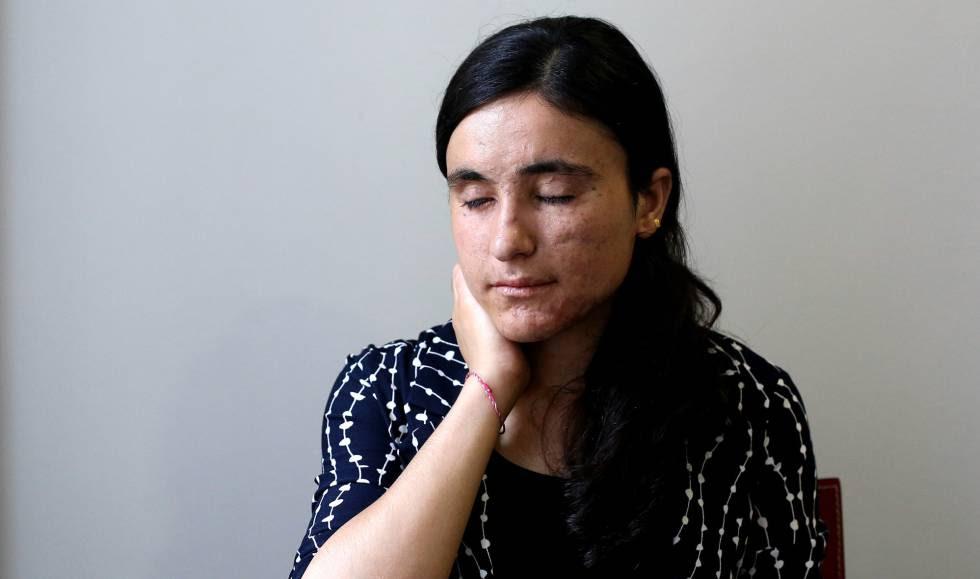 Lamia Aji Bashar, este jueves en Madrid.