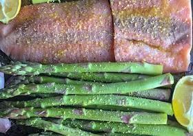 Easiest Way to Make Appetizing Lemon Zest Salmon & Asparagus
