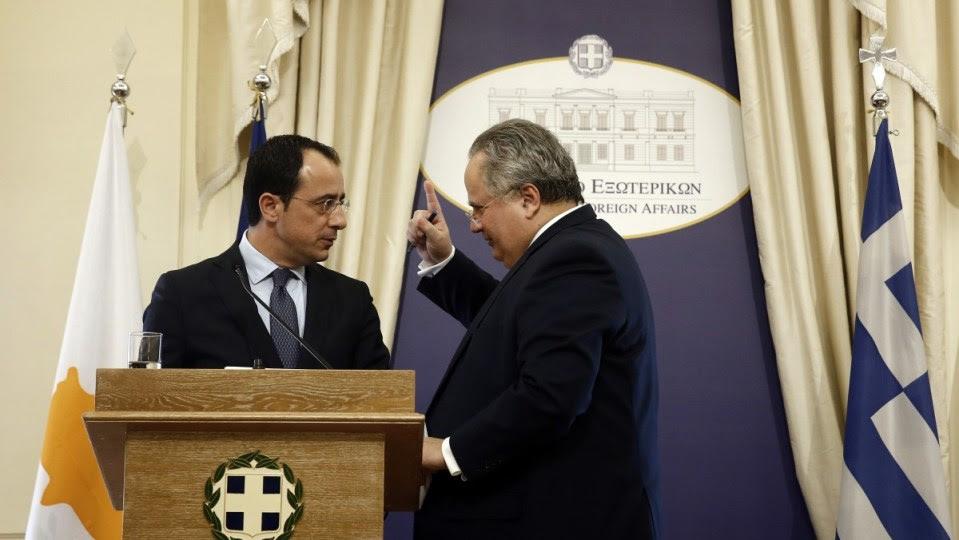 File Photo: Ο υπουργός Εξωτερικών Νίκος Κοτζιάς  με τον νέο υπουργό Εξωτερικών της Κυπριακής Δημοκρατίας Νίκο Χριστοδουλίδη . ΑΠΕ-ΜΠΕ, ΑΛΕΞΑΝΔΡΟΣ ΒΛΑΧΟΣ
