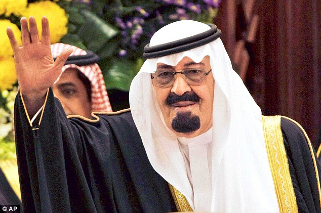 King Abdullah: The authoritarian died on Thursday night of pneumonia and his power has been passed to his 79-year-old half-brother Crown Prince Salman who himself is unwell, and suffering from dementia