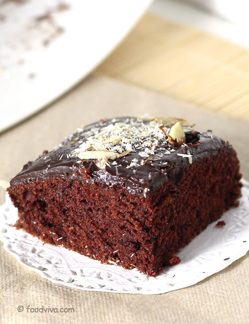 Chocolate Cake Recipe (Eggless) With Step By Step Photos ...