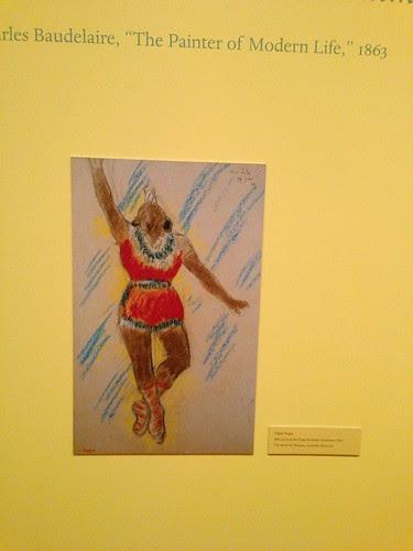 Drawing of Miss La La, Edgar Degas