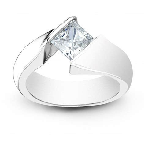 Platinum : Tension Engagement Ring Setting by Sareen