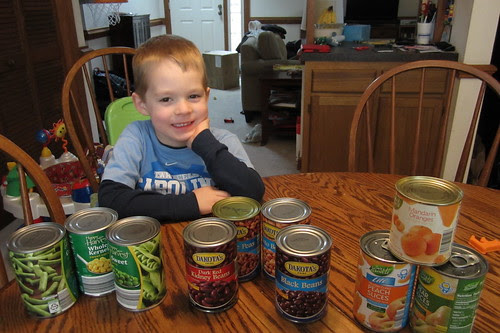 """""""he [loves] these cans!"""""""