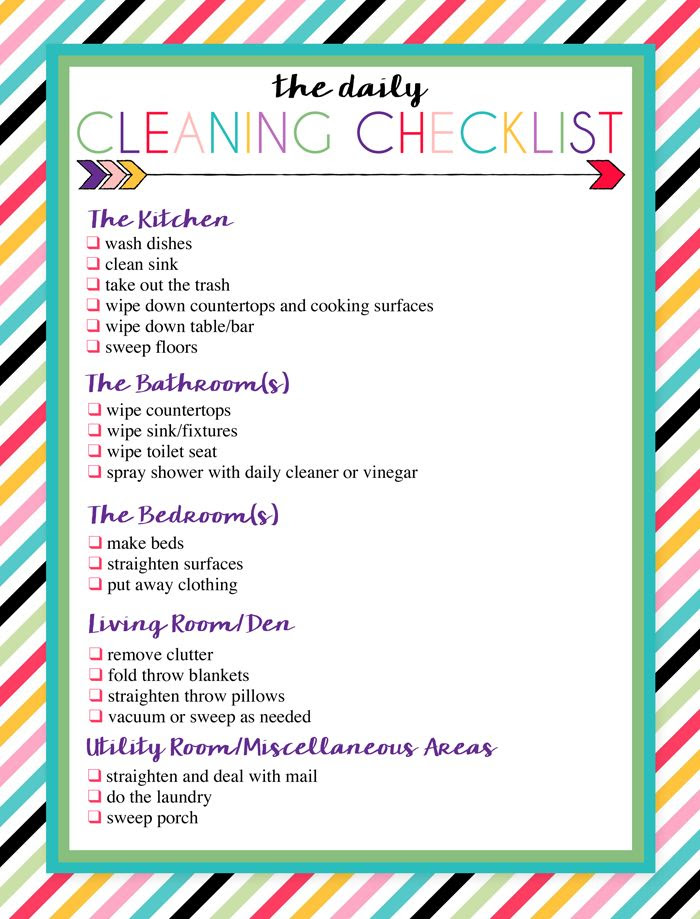 1000+ ideas about Weekly Cleaning Checklist on Pinterest | Weekly ...