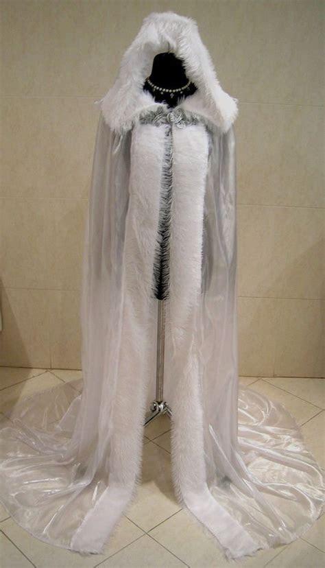 mittelalter cape umhang weiss gothic kleid weihnachten